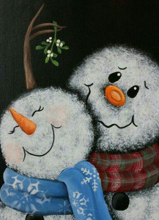 Снеговик мама с ребёнком