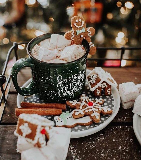 Кофе с вкусняшками, пряниками