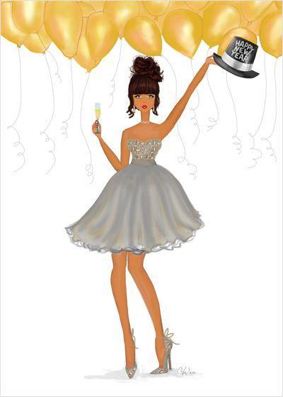 Девушка на аватарку новый год