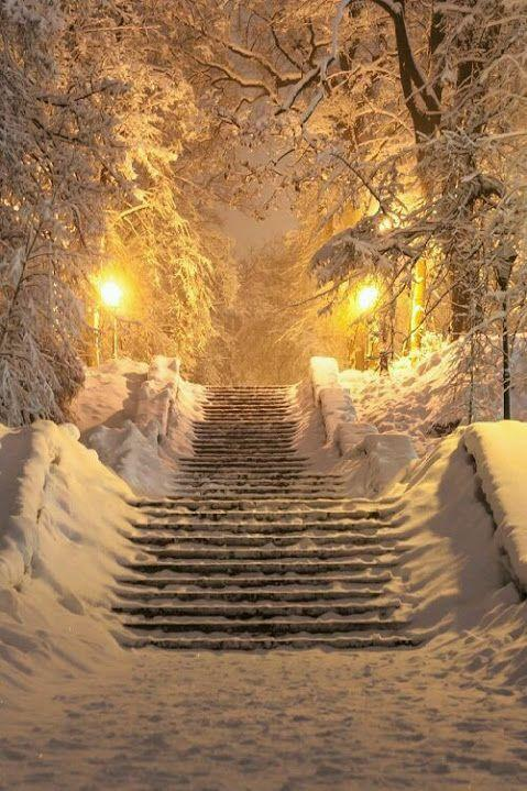 Лестница в снегу