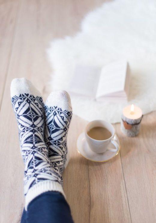 Зимне носки, ноги, фото