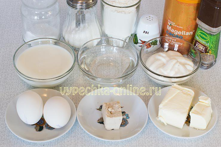 Ингредиенты для сдобных булочек