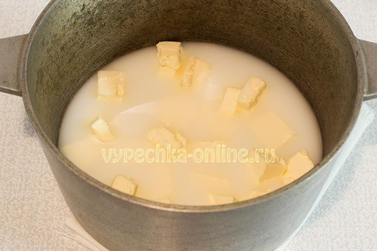 Масло, вода, молоко