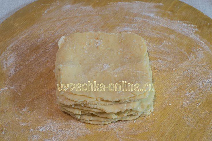Слоёное тесто на картофеле