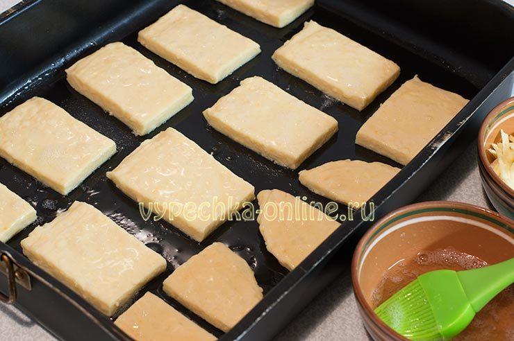 Оформление слоек с сыром