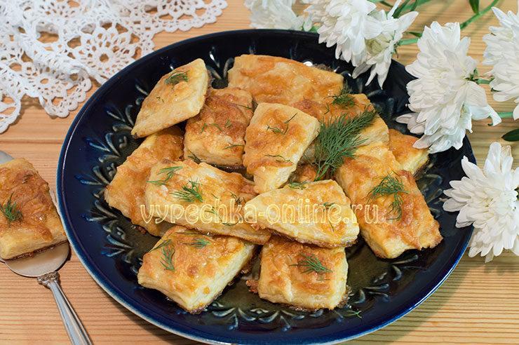 Слойки с сыром рецепт с фото пошагово в духовке на картофельном тесте
