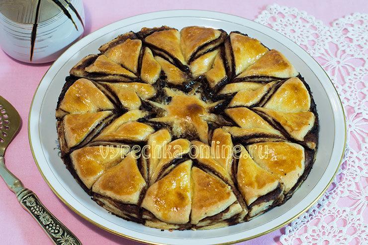 Красивый пирог из дрожжевого теста с начинкой