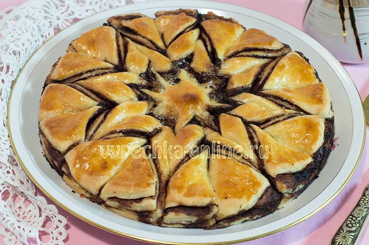 Красивый пирог из дрожжевого теста с начинкой: как сделать, фото пошагово