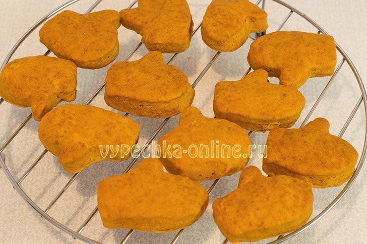 Постное печенье на скорую руку с томатной пастой