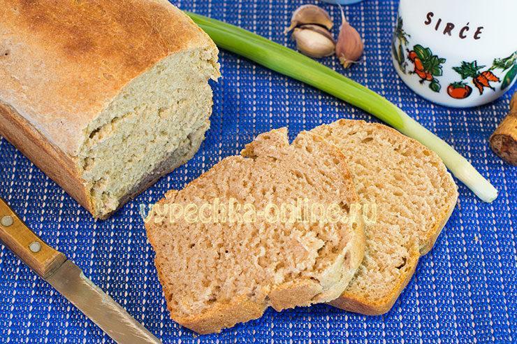 Ржано-пшеничный хлеб в духовке на дрожжах