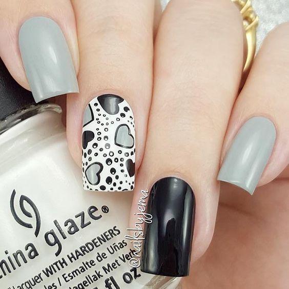 день влюбленных дизайн ногтей