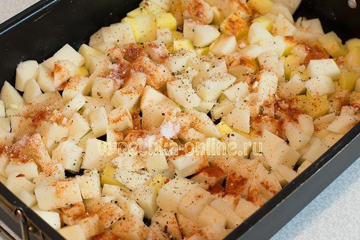 Картошка с чесноком и специями