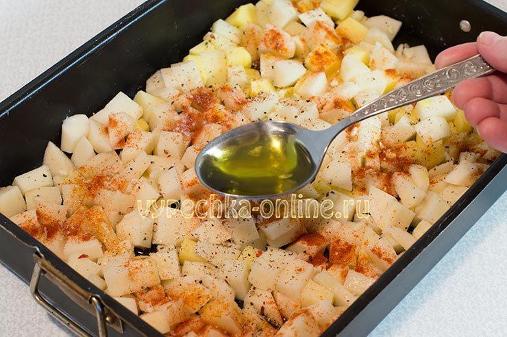 Картошка с оливковым маслом