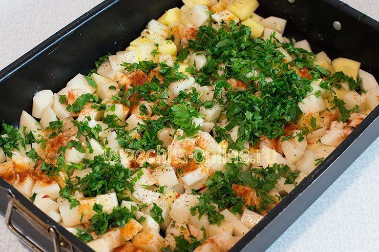 Запеченная картошка с зеленью