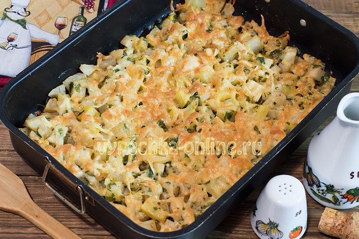 Запеченная картошка в духовке с сыром и чесноком