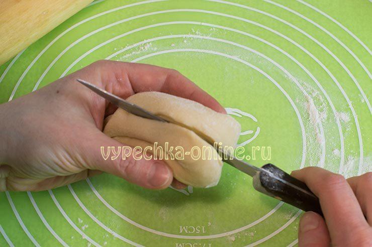 Как сделать булочку сердечком