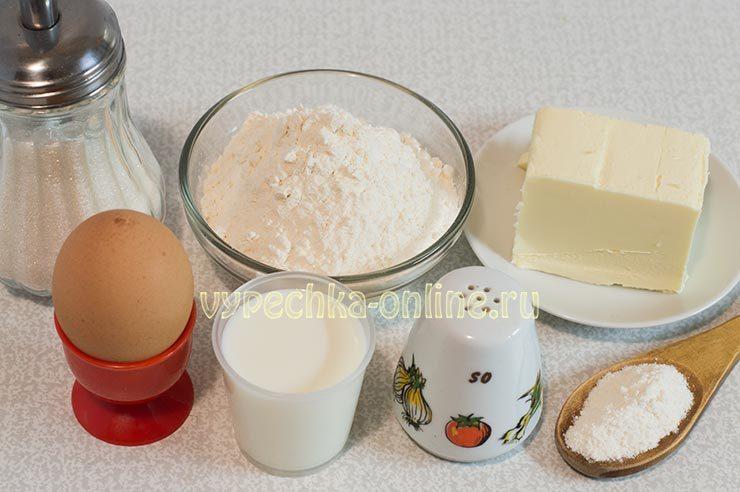 Ингредиенты для коржиков
