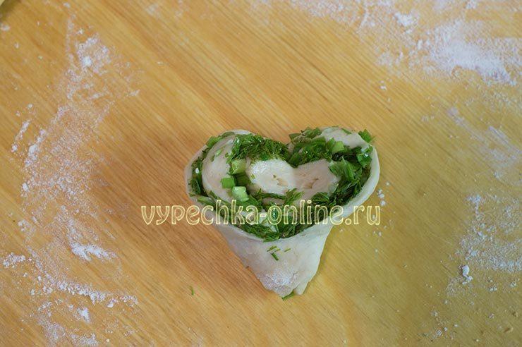 Плюшка с зеленью