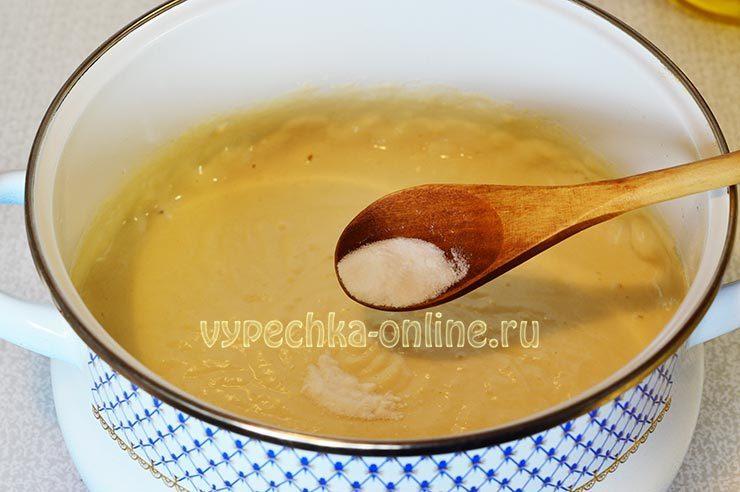 Тесто на оладьи с содой