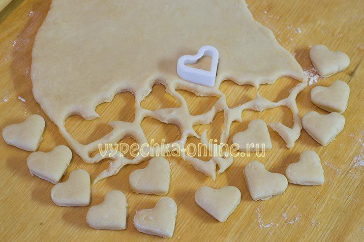 Печенье Сердечки Валентинки