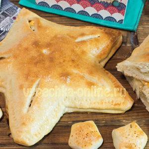 Пирог на 23 февраля оформление в виде звезды, выпечка своими руками