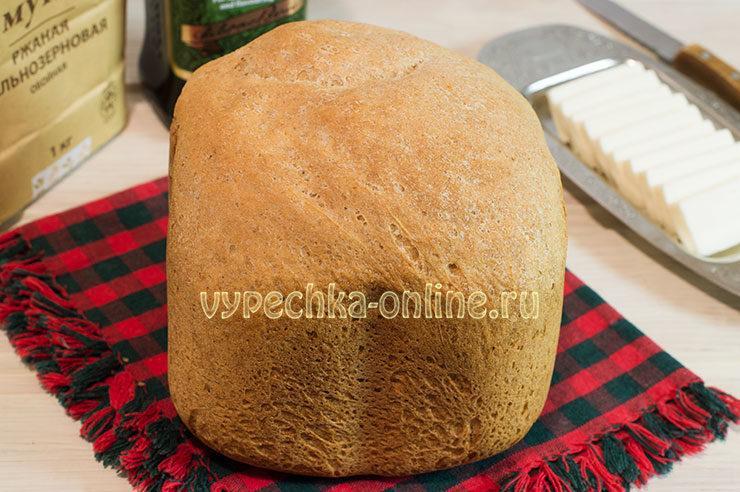 Ржано-пшеничный хлеб в хлебопечке рецепт с фото пошагово с цельнозерновой мукой