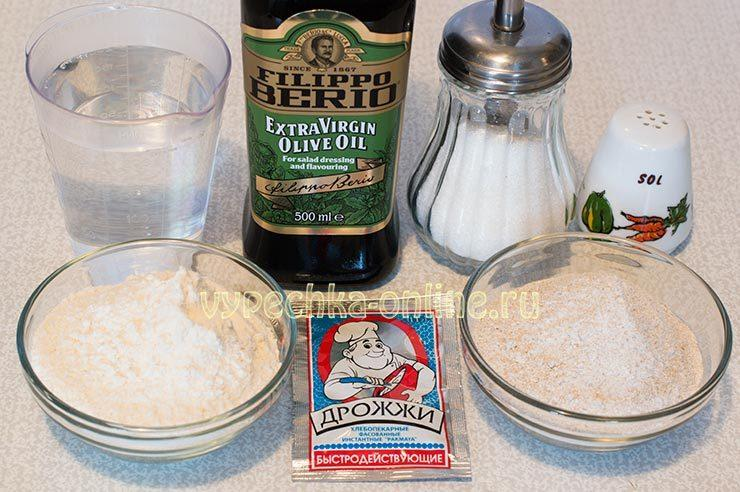 Ингредиенты для хлеба в хлебопечке