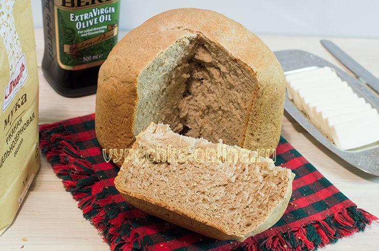 Рецепт хлеба с цельнозерновой мукой в хлебопечке