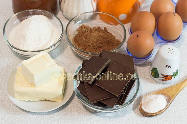 Ингредиенты для торта Захер