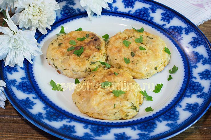 картофельные котлеты в духовке с сыром