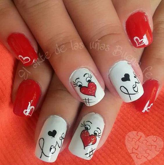 ногти на день влюбленных