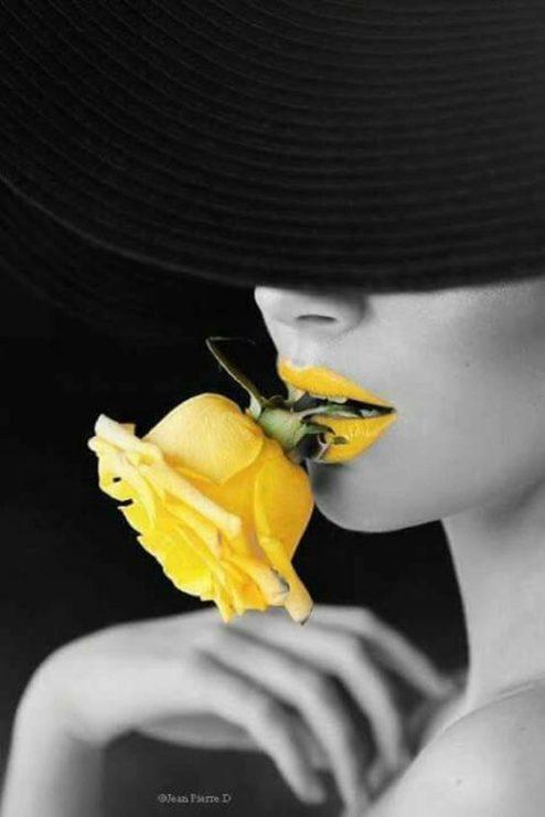 Роза, помада