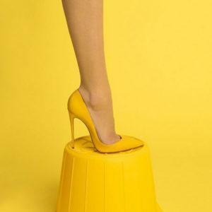 Жёлтое настроение туфли