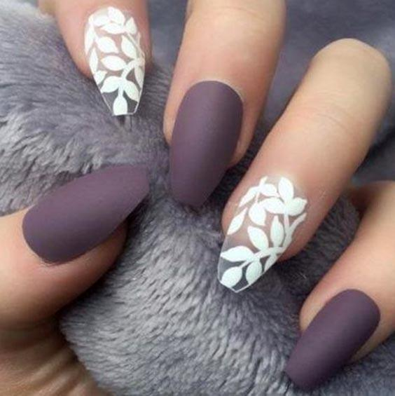 Матовый лак на ногтях