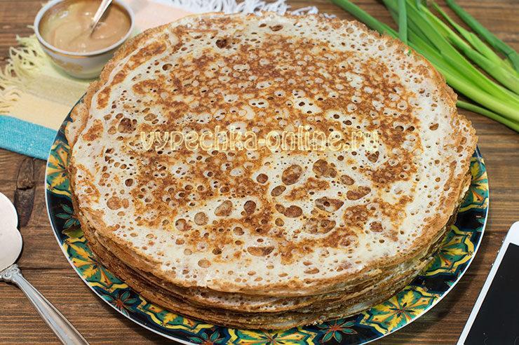 Блины дрожжевые на молоке тонкие с дырочками рецепт с фото: ажурные, очень вкусные, на сухих дрожжах
