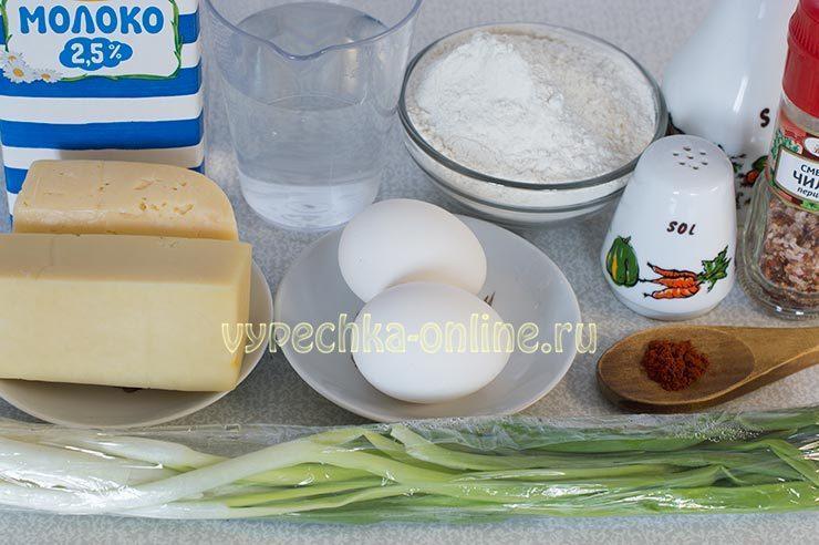 Ингредиенты для блинов с начинкой