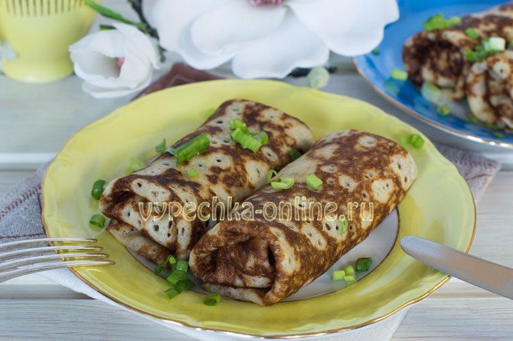 Блины с сыром и зеленью рецепт с фото пошагово на молоке