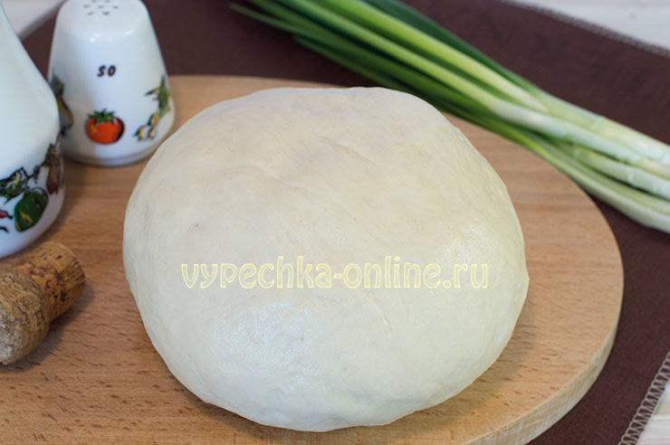 Дрожжевое тесто на молоке для пирожков в духовке на сухих дрожжах холодным способом, рецепт
