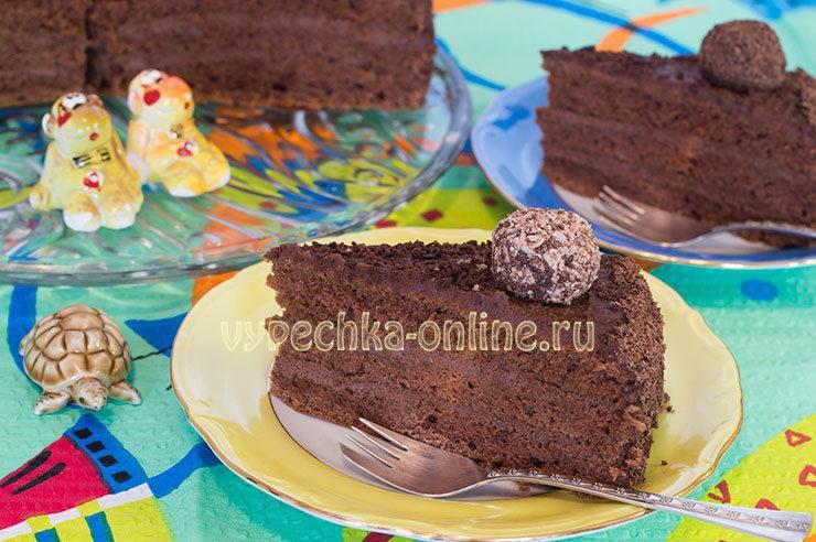 Торт с конфетами Бригадейро