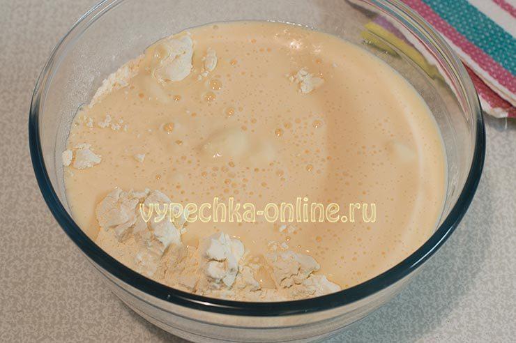Тесто на блины на кефире тонкие