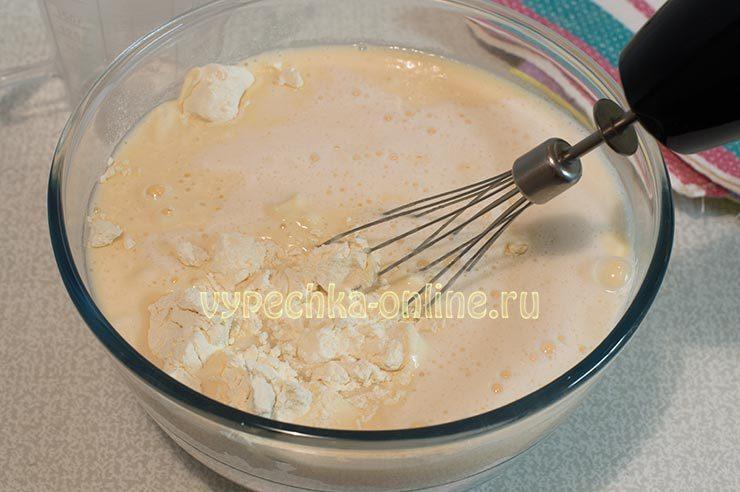 Тесто на блины на кефире и кипятке
