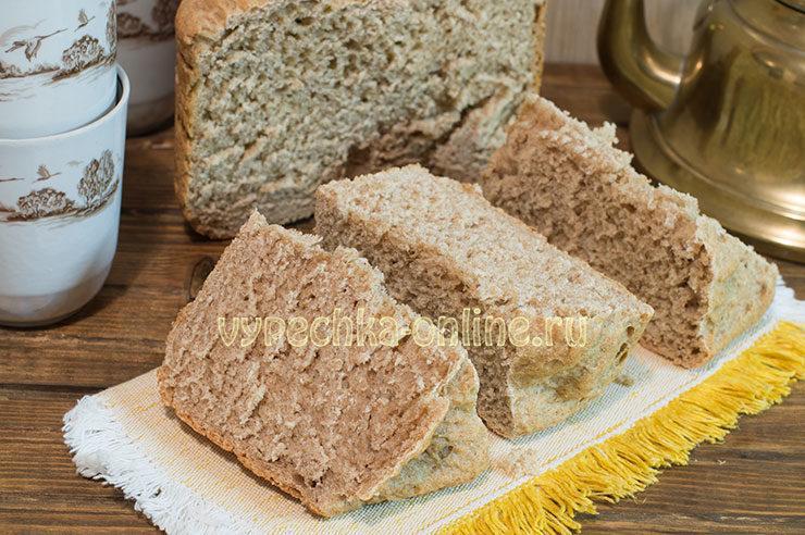 Хеб из цельнозерновой муки в хлебопечке рецепт