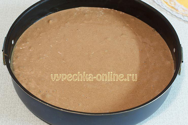 Шоколадный бисквит с шоколадным кремом рецепт с фото