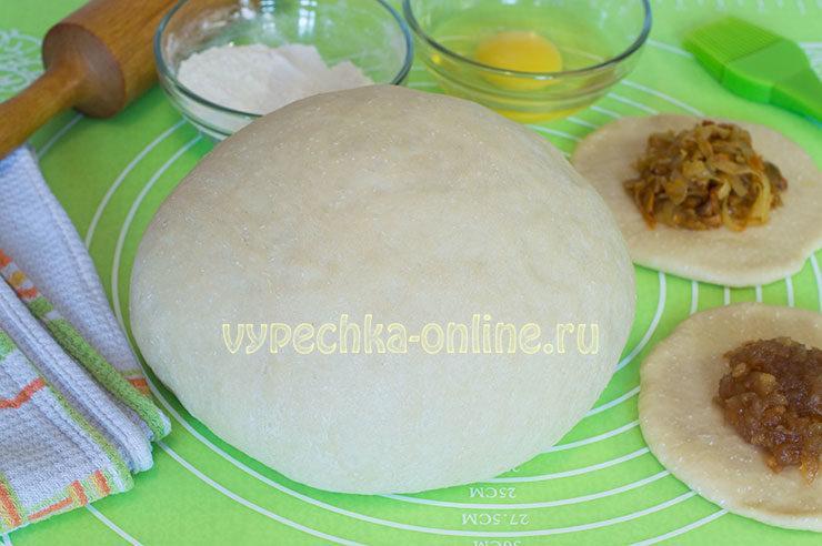 Тесто на пирожки дрожжевое на сухих дрожжах в духовке
