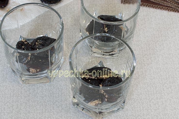 Десерт чернослив с орехами в сметане рецепт с фото пошагово
