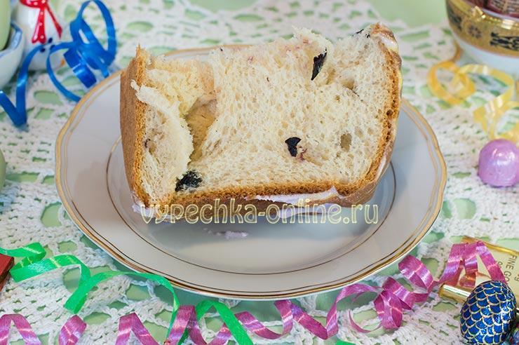 Выпечка кулича в хлебопечке
