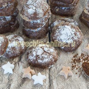 Постное кофейное печенье