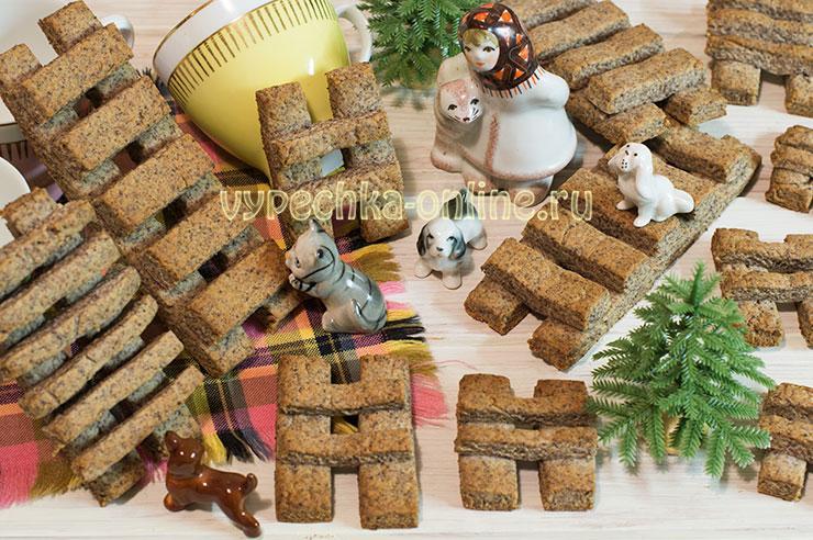 Постное печенье с медом Лестницы, рецепт с фото пошагово