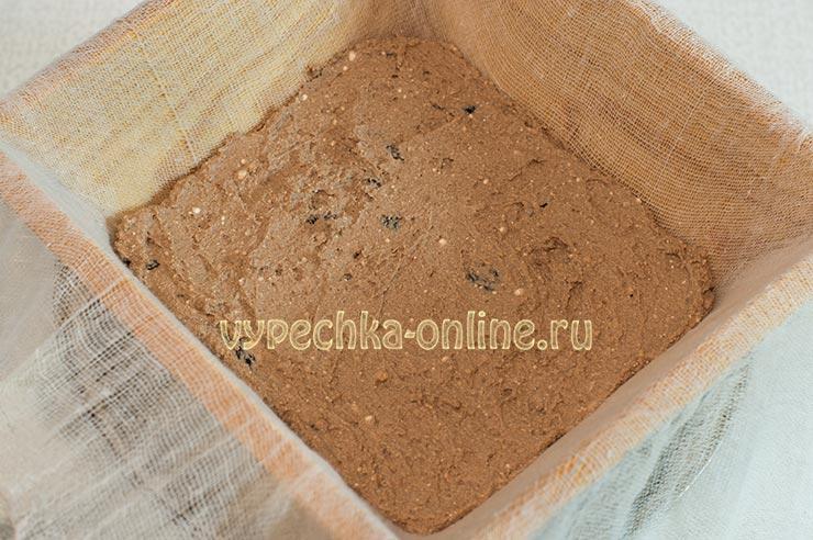 Шоколадная пасха из творога