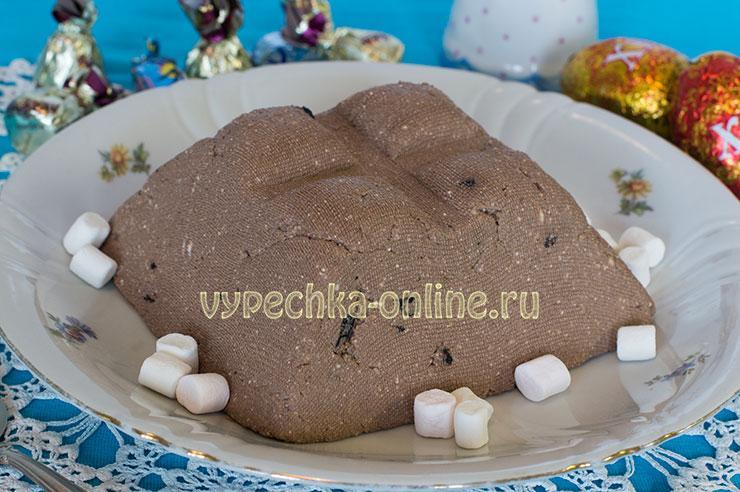 Шоколадная пасха из творога с какао